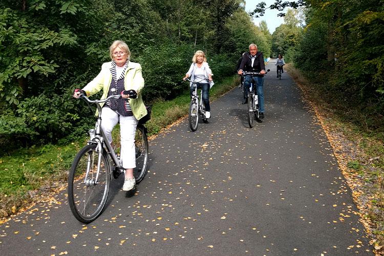 Im Rahmen des Projektes wurden unter anderem Radtouren organisiert.