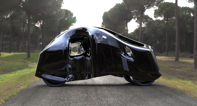 Eine Visualisierung eines modernen Fahrzeugs
