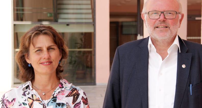 vhb Beauftragter Professor Popp und PhD. cand. Monica Ciolacu managen das SMART-vhb-Projekt der THD