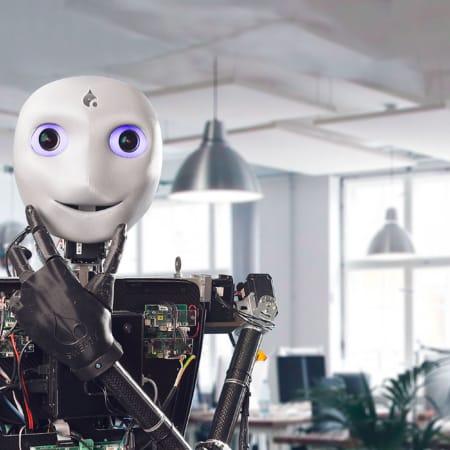 """""""Sweaty"""" der Roboter von vorne."""