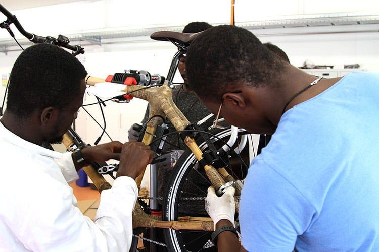 Die Entwicklung und Herstellung eines neuartigen E-Bikes auf Basis eines Bambus-Rahmens in Leichtbauweise steht im Fokus des Austauschprojektes mit der Koforidua Technical University