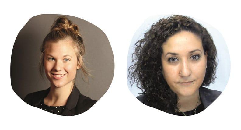 "Linda Pauksztat (li.) und Nursah Capulcu leiten das junge Unternehmen ""Adieu"""