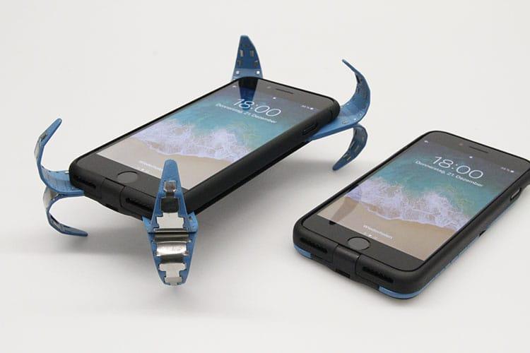 Ansicht der Handyhülle zum Schutz des Displays.