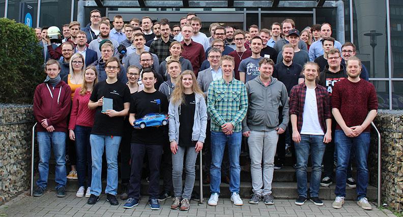 """82 Studierende der Hochschule Osnabrück präsentierten auf der Projektmesse """"Lösungen für die Welt von morgen"""" Ergebnisse ihrer Semesterarbeiten."""