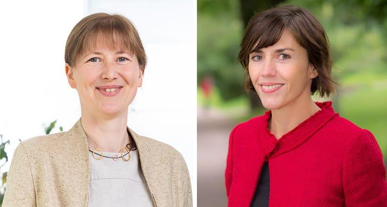 Prof. Dr. Kristin Mitte (links) und Prof. Dr. Nicole Harth (rechts)