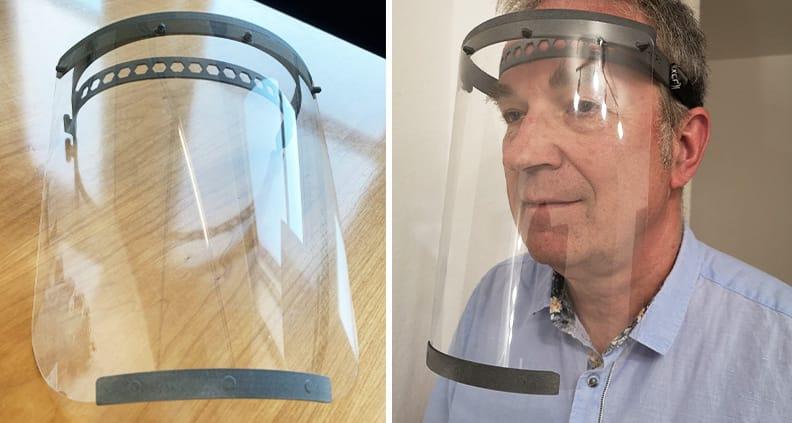 Schutzvisiere aus dem 3D-Drucker.