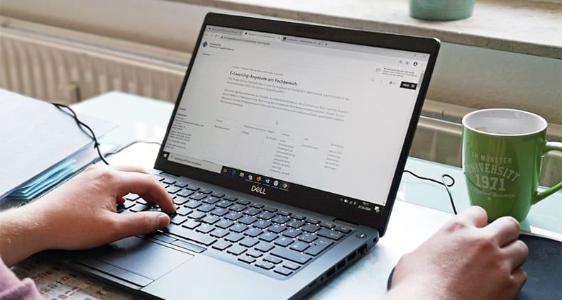 Die Fachbereiche der FH Münster richten verstärkt E-Learning-Angebote ein.