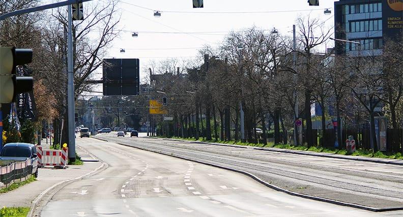 Verkehrsrückgang in Zeiten von Corona.