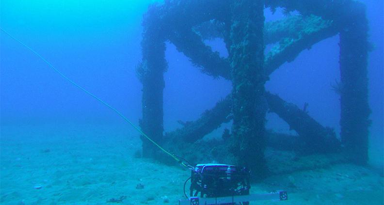 Die ferngesteuerten Unterwasserfahrzeuge wurden in der Geographe Bay südlich von Perth zu den Betonriffs in 20 bis 30 Meter Wassertiefe geschickt.