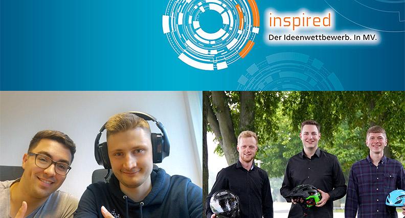 """Die Gewinnerteams des """"Inspired""""-Ideenwettbewerbs 2020."""