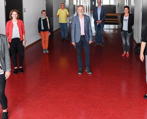 Die Mitglieder des Steuerkreises zum Thema Future Skills (von links): Svenja Haubold, Katrin Neher, Dr. Brigitte Steinke, Rüdiger Hümmer, Klaus Klutzny, Prof. Dr. Niko Kohls, Tina Rose, Prof. Dr. Jutta Michel