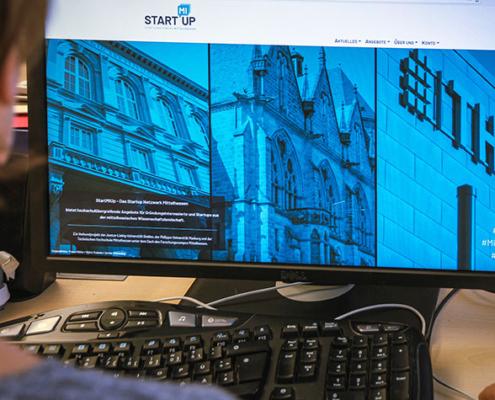 Die Homepage von StartMiUp.