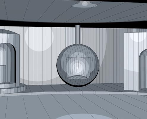 In diesen futuristischen Raumkapseln werden alle Sinne auf die Probe gestellt.