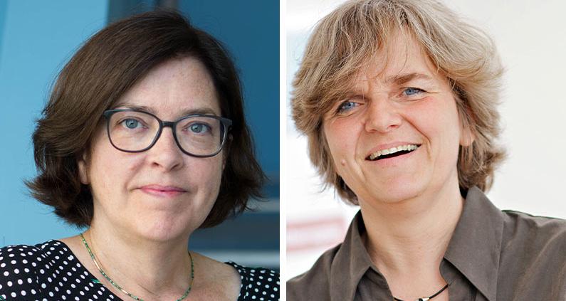 Nicola Bauer und Professorin Dr.in Rainhild Schäfers vom Projekt HebAB.NRW.