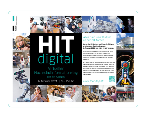 Alles rund ums Studium beim digitalen Hochschulinformationstag der FH Aachen.