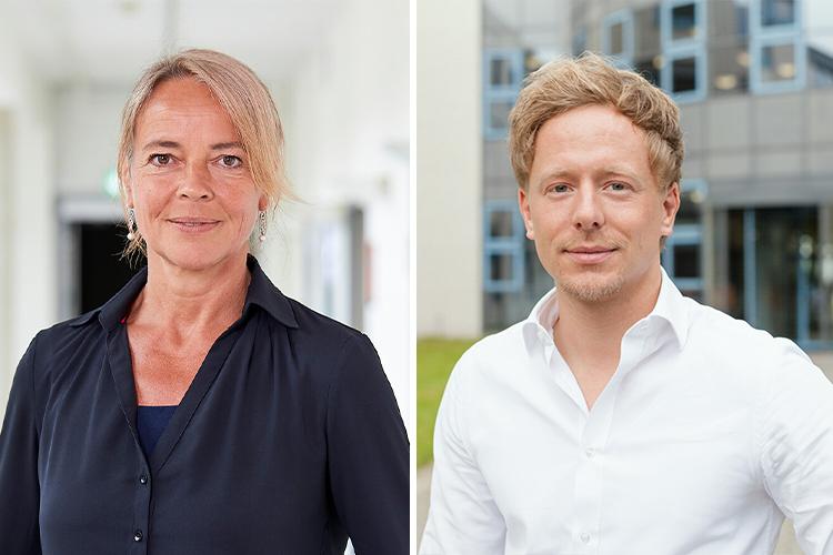 Prof. Dr. Britta Böckmann, Leiterin des Projekts an der FH Dortmund und Matthias Becker.