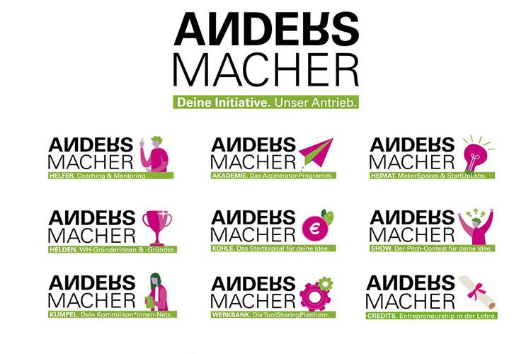 Das Programm der ANDERSMACHER richtet sich neben Studierenden auch an Beschäftigte, Lehrkräfte und Alumni.