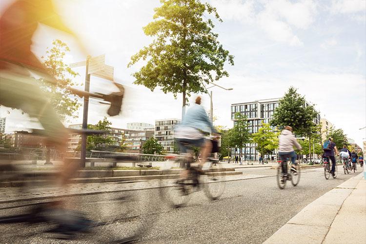 Schnelle Fahrradfahrer