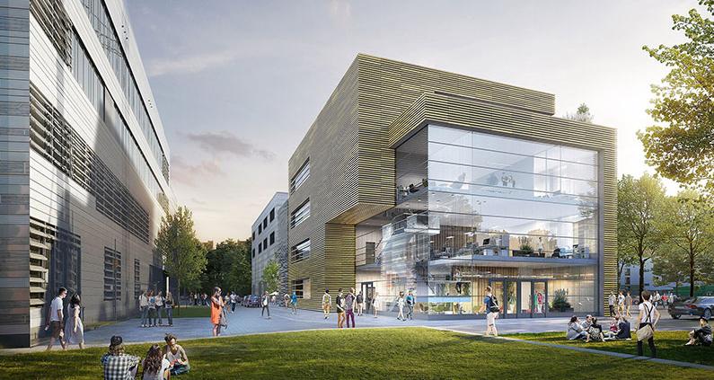 Das künftige Gebäude des ZDD am Campus der Hochschule Düsseldorf.