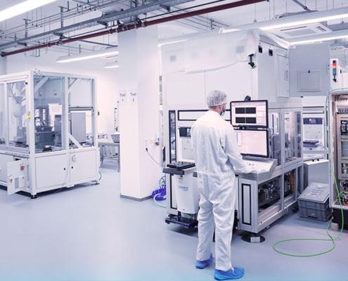 einraum der Firma PVA TePla Analytical Systems GmbH in Westhausen.