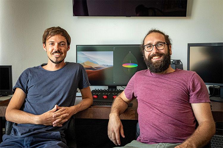 Pirmin Straub und Manuel Hüttel entwickeln Impfbrücke.